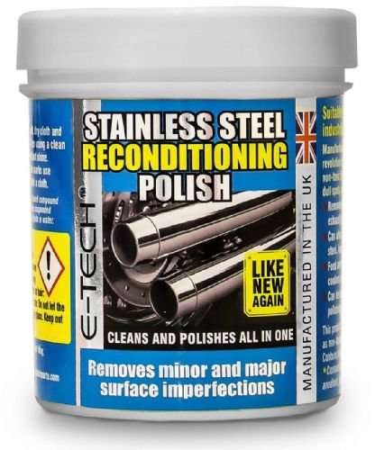 Stainless Steel Polish Wax Restorer Reconditioner for Home Appliance & Car Trims